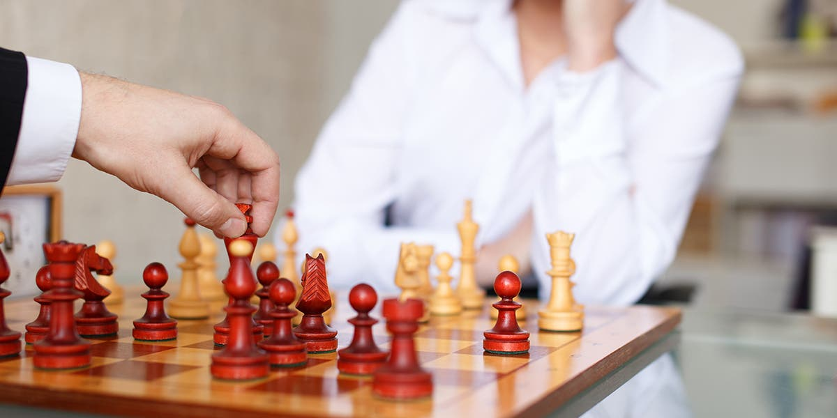 A game of chess illustrating strategic frontline leaders