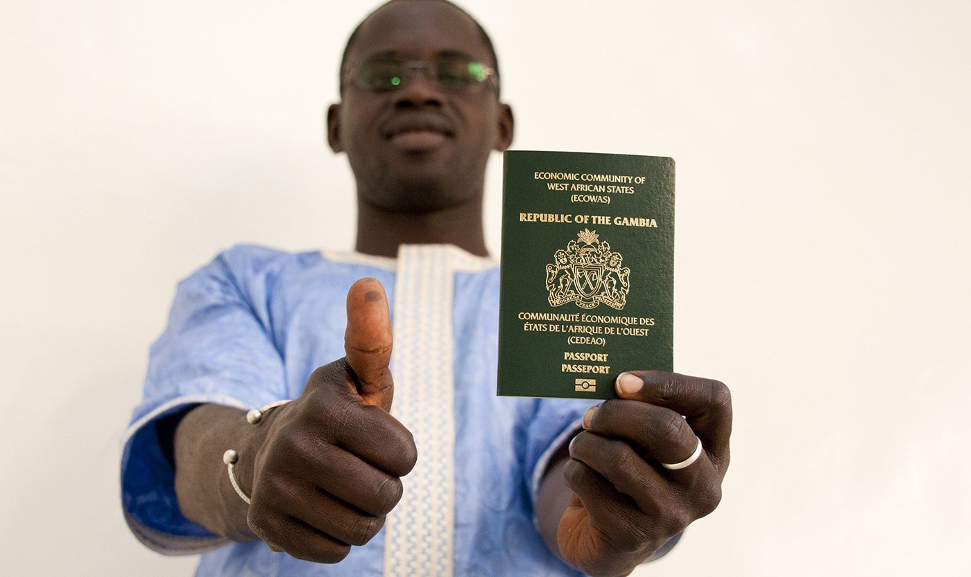 Emergency Travel Document For Gambians