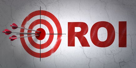 target sign and roi text