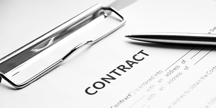 a contract on clipboard