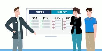 snapshot of seo vs ppc video