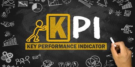 kpi graphic on chalkboard