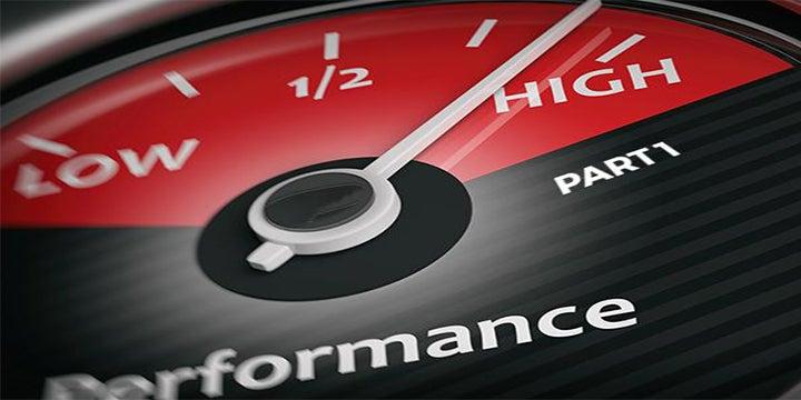performance car guage on high