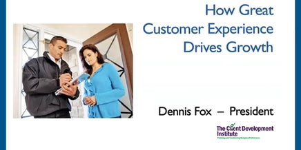 how a great customer experience drives growth snapshot