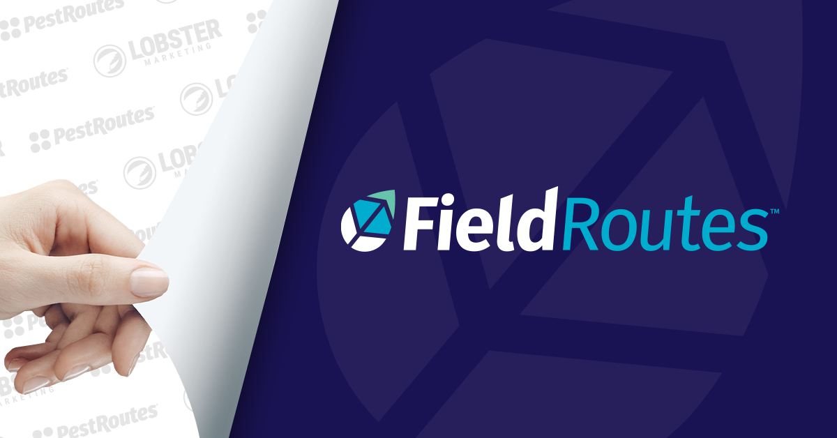 hand revealing new fieldroutes logo