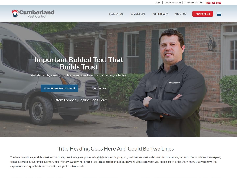 screenshot of cumberland site design