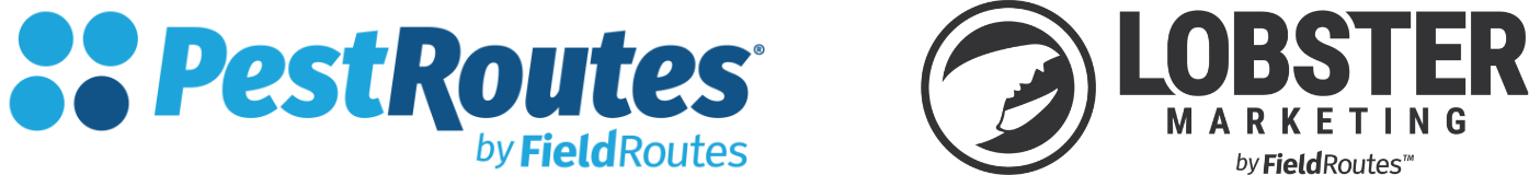 pestroutes and lobster marketing logos now by fieldroutes
