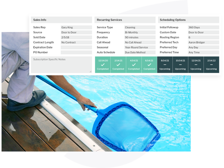 pool tech and services on fieldroutes