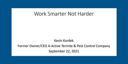 snapshot of work smarter not harder webinar
