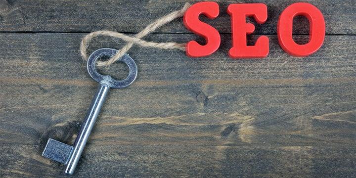 key with seo text keychain