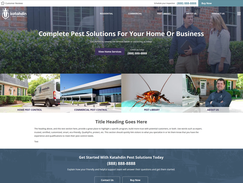 screenshot of  katahdin site design