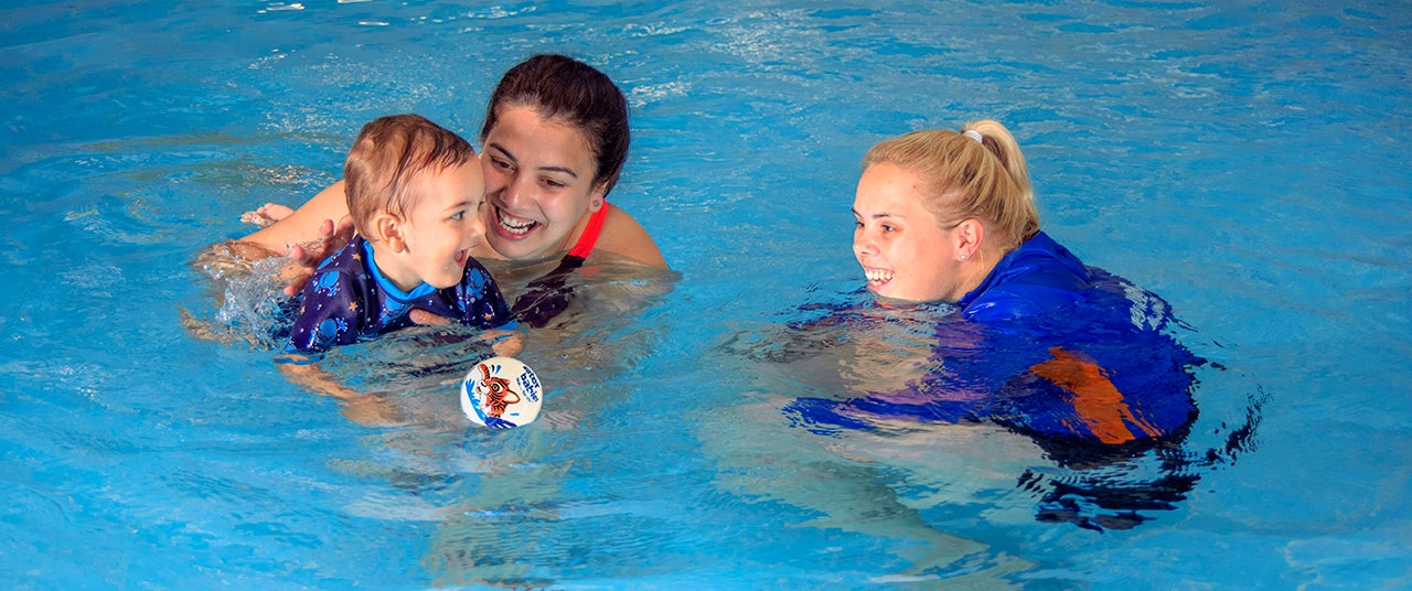 Water Babies baby swimming lesson