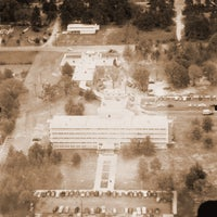 Aerial photo of original hospital.