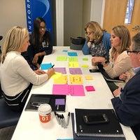 Team members discuss Transforming Baptist