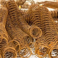 A picture of metal coils