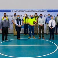 A group photo of the subcontractors including Mark Faulkner
