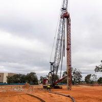 A photo of a crane
