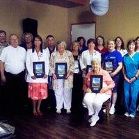 Gulf Breeze Hospital celebrates charter employees.