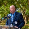 Scott Raynes Executive Vice President Baptist Health Care, President Baptist Hospital, Inc. speaks at New Health Campus groundbreaking event.