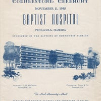 Program for the cornerstone that was placed a year before the hospital opened.