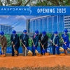 Baptist Health Care Administration and guest at new health campus groundbreaking with ceremonial first shovel event.