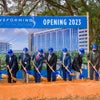 Shoveling ceremony at Baptist Health Care New Health Campus groundbreaking.