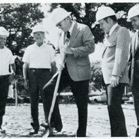 Breaking ground for professional office building.