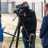 Mark Faulkner CEO of Baptist Health Care giving media interview.