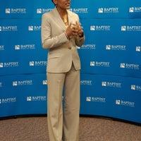Celebrity Robin Roberts speaks at a Foundation event.