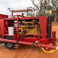 Red heavy machinery