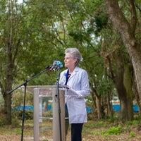 Cynde Gamache Chief Nursing Officer speaking at new health campus groundbreaking event.