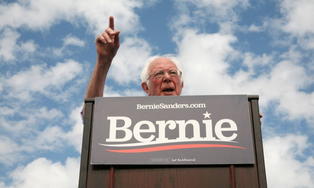 Bernie Sanders speaks to his supporters at Valley High School in Santa Ana, California during a rally.jpg