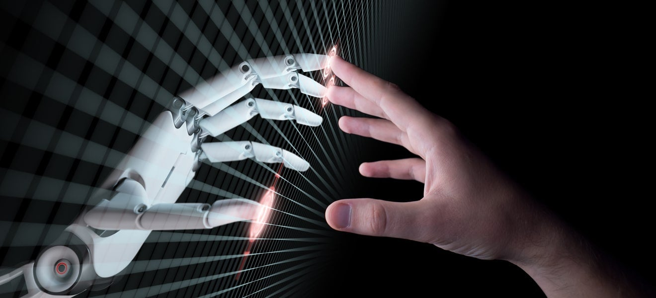 How should a robot talk to a customer?