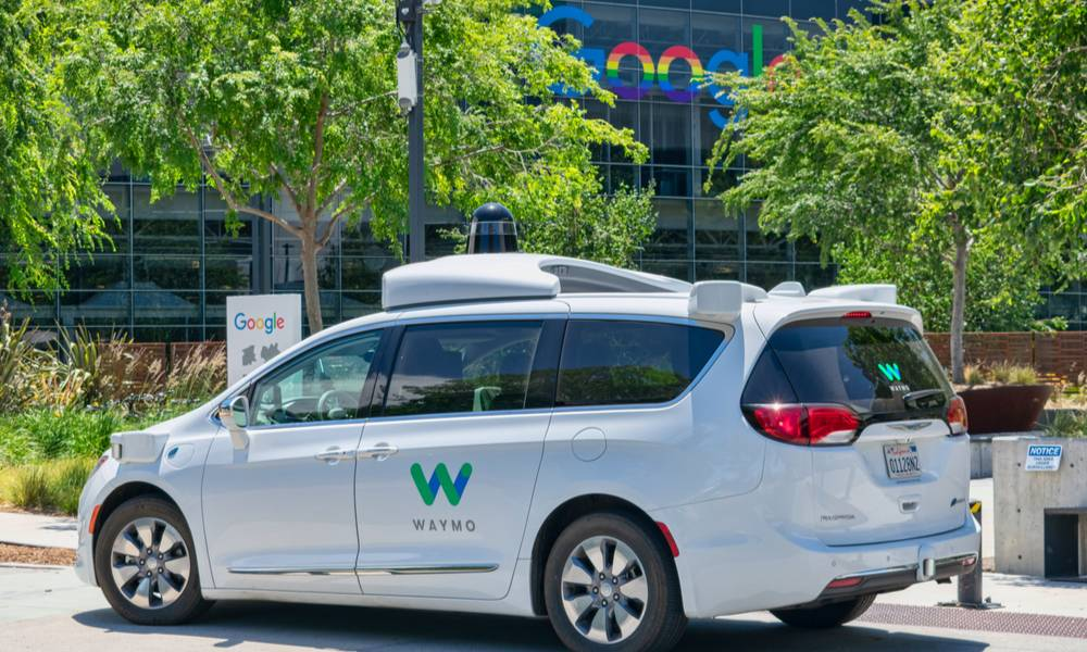Waymo self driving car performing tests in a parking lot near Google's headquarters (1).jpg