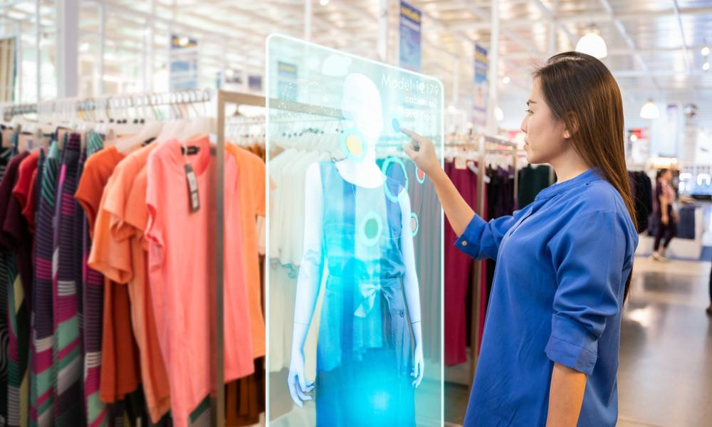 Augmented reality hologram in a retail store.jpg