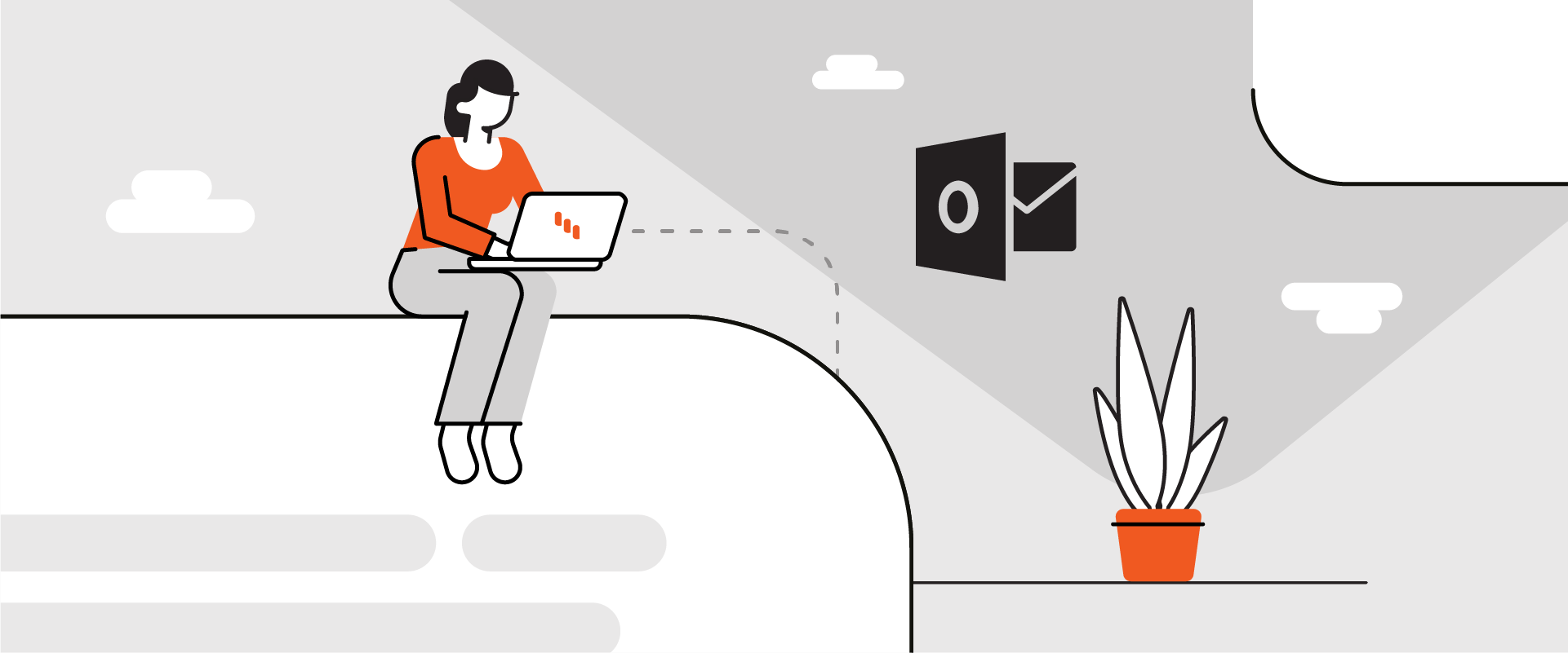 How to add rounded corners to containers in Outlook