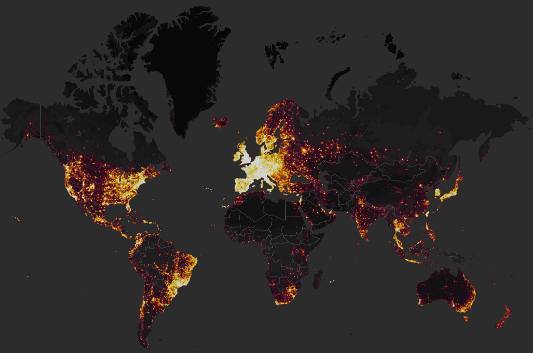 Strava Global Heatmap (Taken from strava.com)