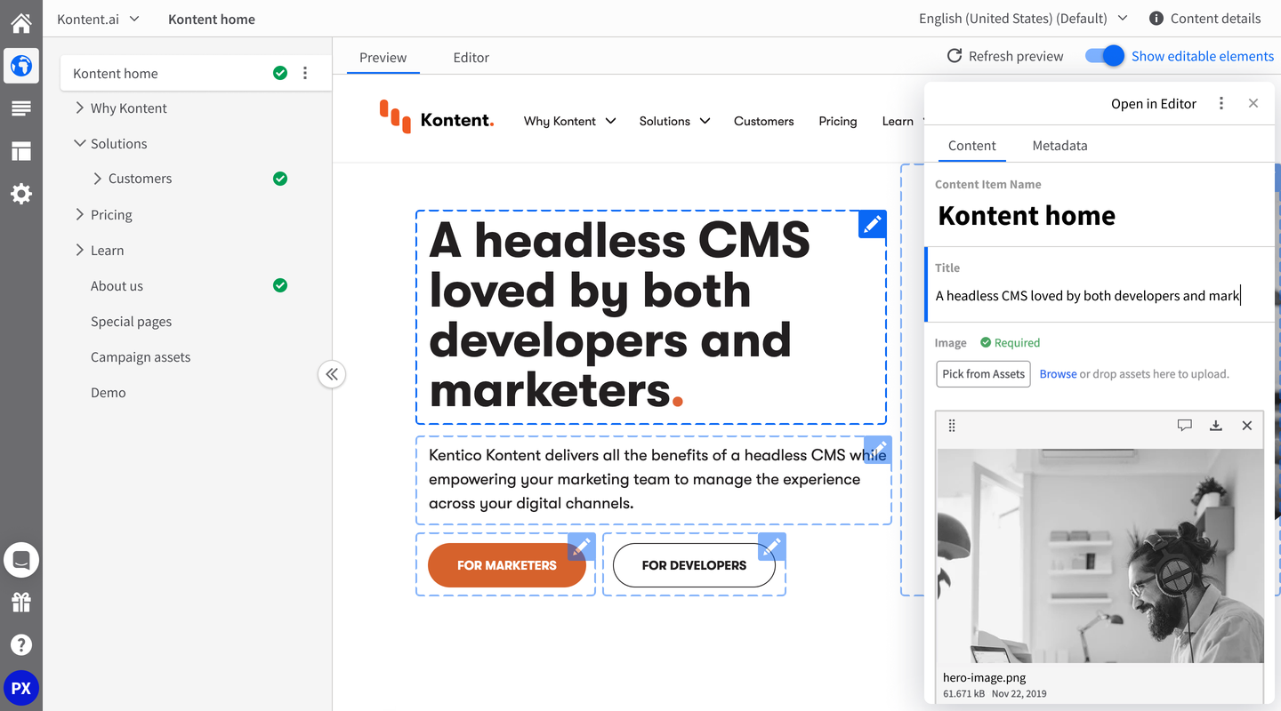A headless CMS loved by both developers and marketers