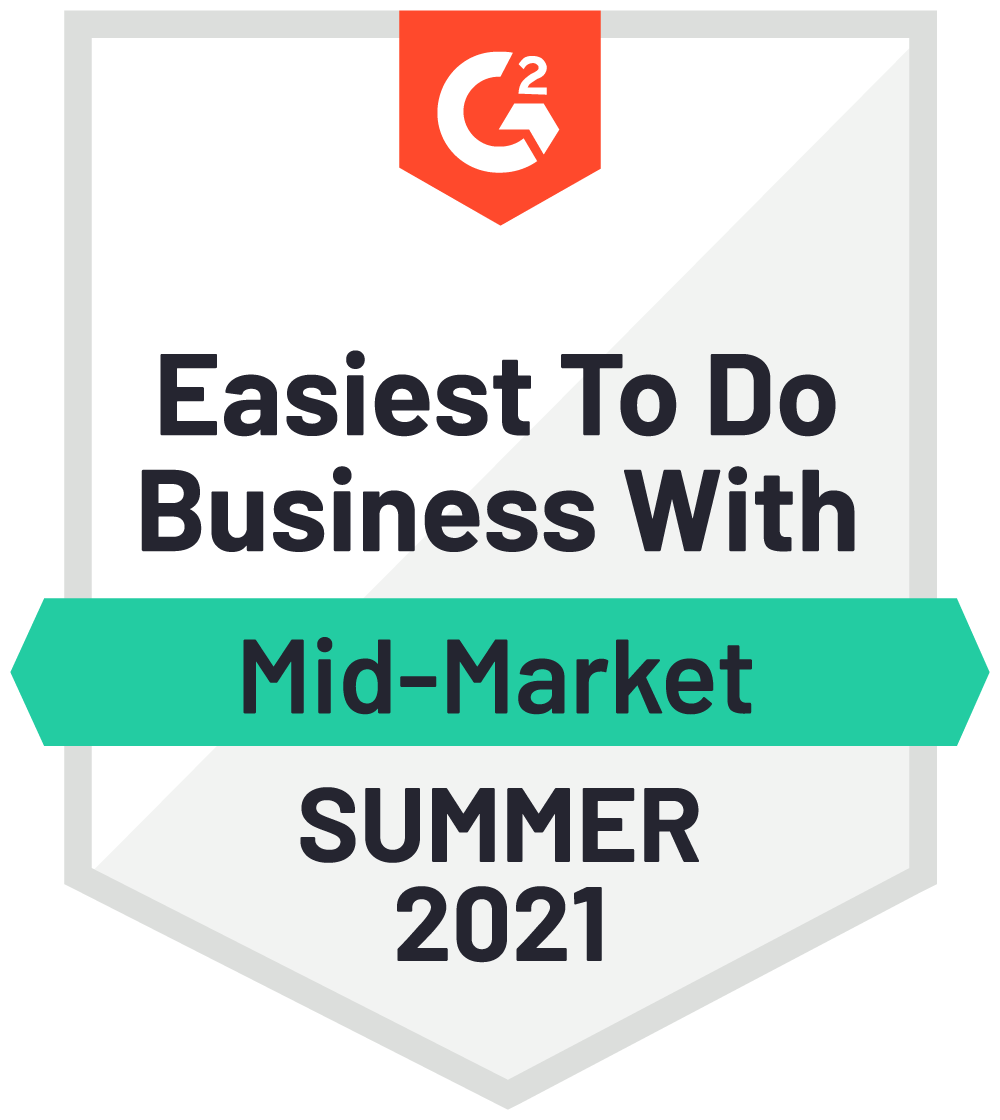 Easiest to do business with Summer 2021