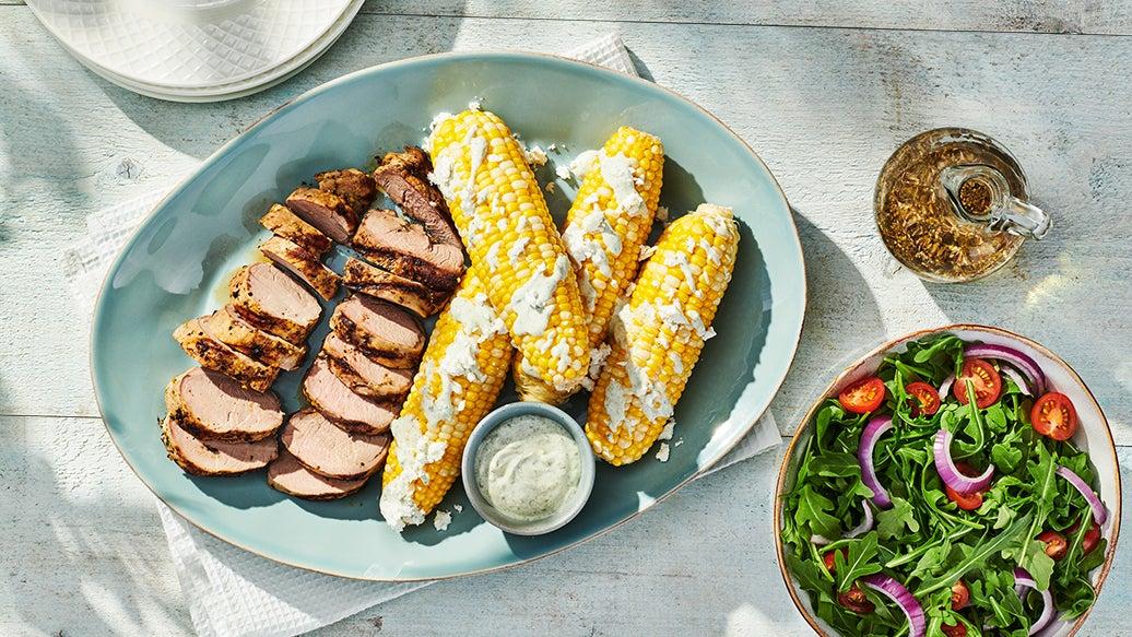 Grilled Pork & Corn