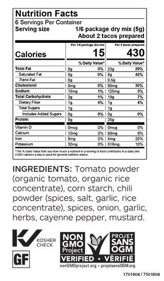 Taco Seasoning (Pkg of 3)