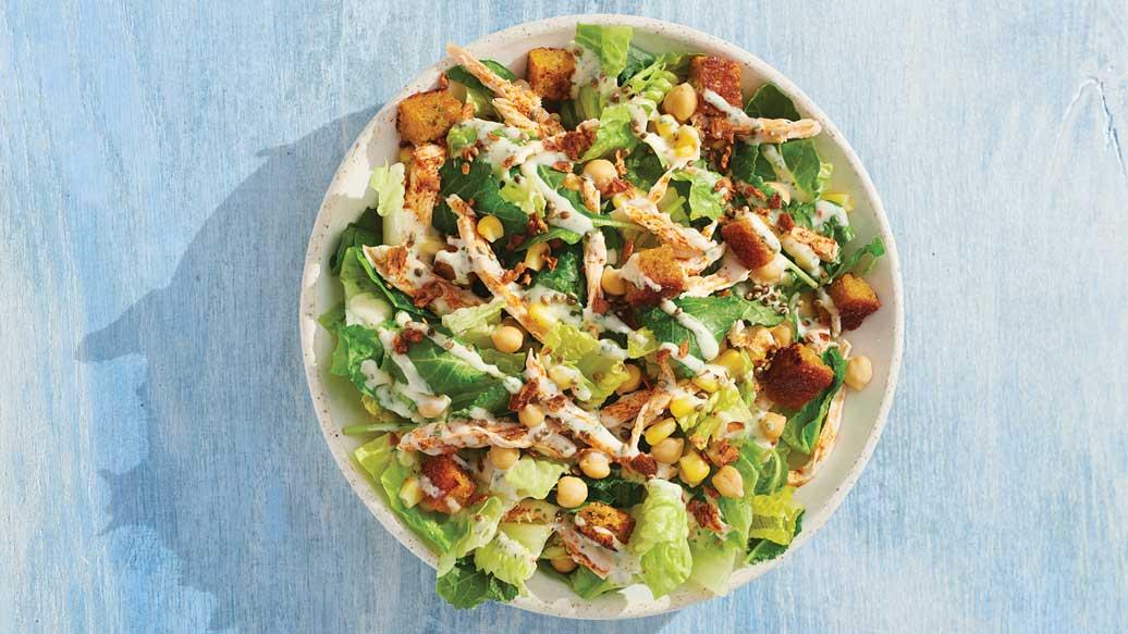 Rotisserie Chicken Caesar Salad Dinner