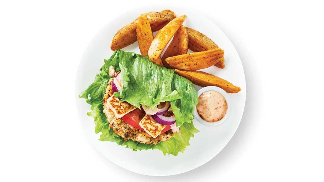 Veggie & Halloumi Burger