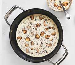 Soupe hivernale aux champignons