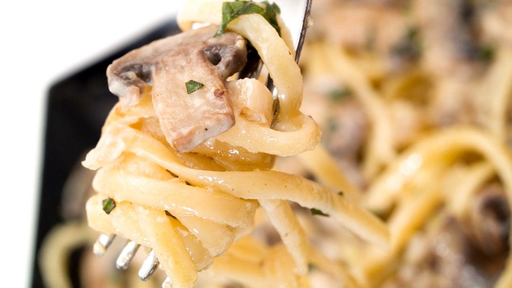 Herbed Garlic and Mushroom Pasta