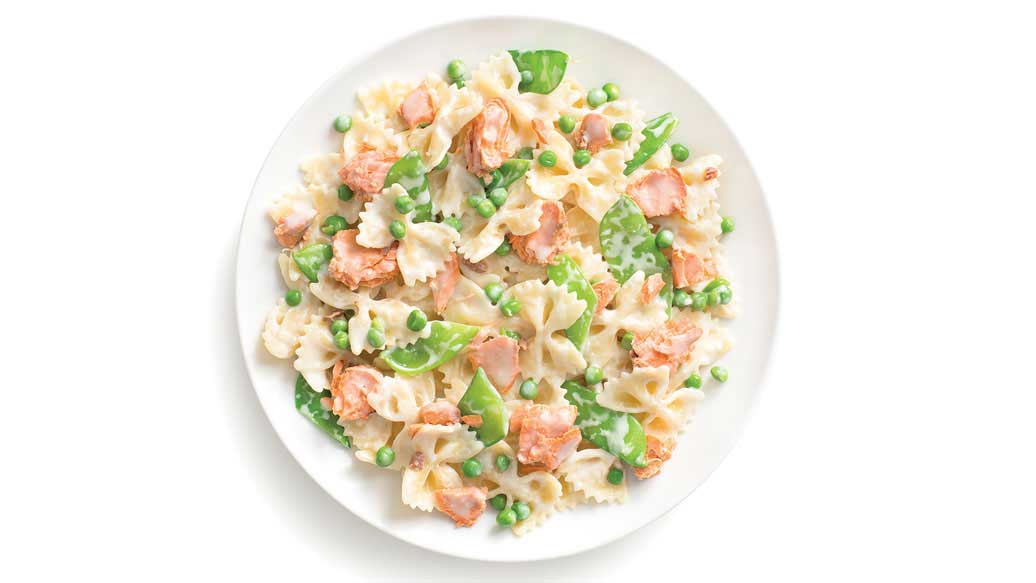 Salmon Alfredo Bow Ties