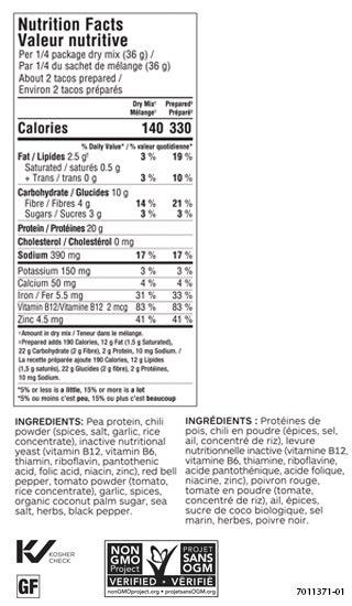 Easy Peasy Taco Mix (Pkg of 2) (Caldic)