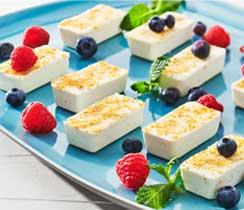 Mini gâteaux au fromage à la lime sans cuisson