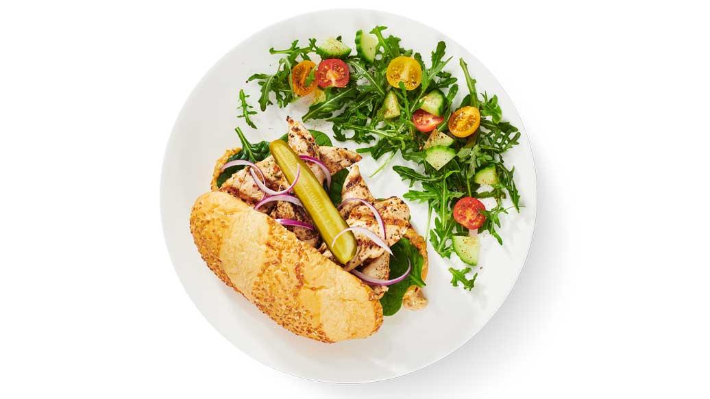 Grilled Chicken Hoagie