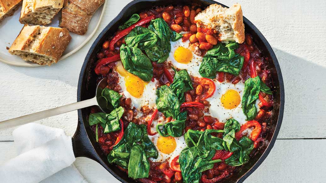 Rancher Style Baked Beans & Eggs